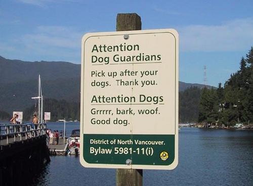bizar-bord-tweetalig-voor-honden-en-baasjes