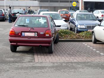 foutparkeren belgische ford fiesta