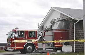 foutparkeren brandweerauto te hoog voor kazerne