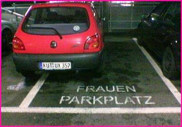 foutparkeren vrouwen parkeerplaats vrouwen kenteken