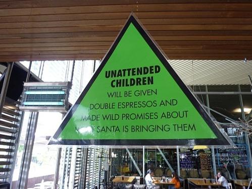 unattended children double espresso santa promises gifts