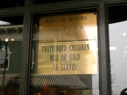 unattended children sold as slaves