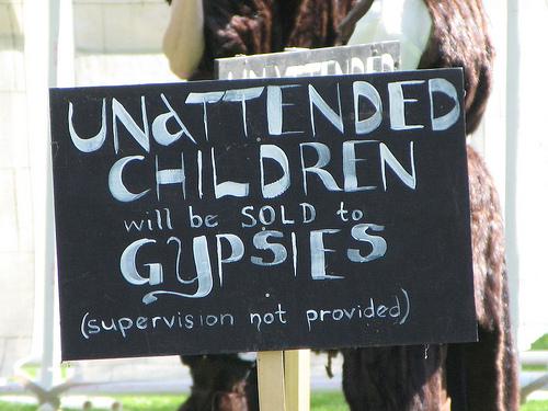 unattended children sold to gypsies