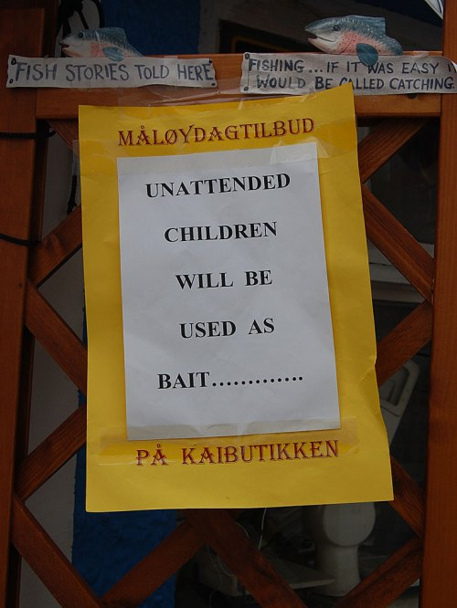 unattended children will be used as bait