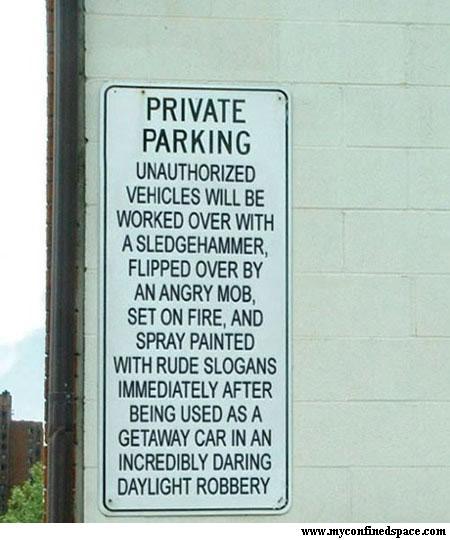 borden-prive-parkeerplaats-zware-straf