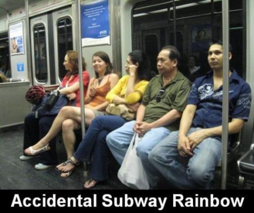 regenboog-in-metro